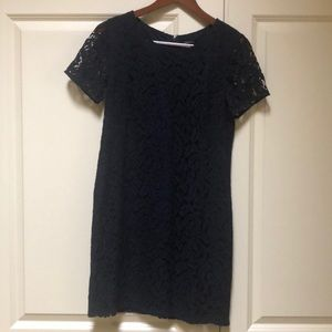 Ann Taylor Dresses - Ann Taylor navy lined lace dress 6